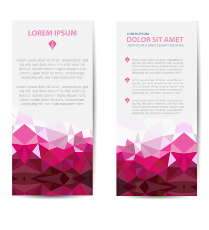 business card design: Set template invitations, business cards, flyers on an abstract theme. Suitable for real estate agencies and construction and tourism companies. Illustration