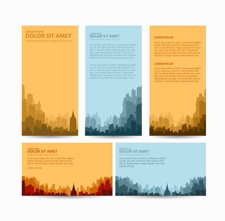 retro illustration: Flyer town for business and corporate business cards and invitations to urban style Illustration