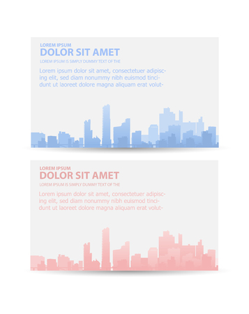 urban style: Flyer town for business and corporate business cards and invitations to urban style Illustration