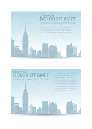 Flyer town for business and corporate business cards and invitations to urban style Illustration
