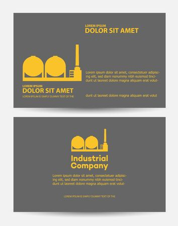 construction companies: Card construction industry made a template for business and industrial companies in the dark colors
