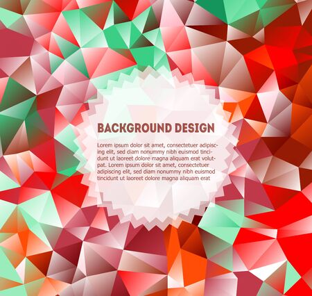 polyhedron: Geometric pattern background vector design. Vector Triangle Wallpaper. Polyhedron wallpaper. Technology background. Triangle pattern, color geometric background, line art background. Wallpaper drawing. Web Design Triangle Vectores