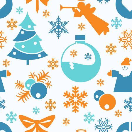 christmas motif: Seamless festive Christmas motif. Merry Christmas and a good new year.