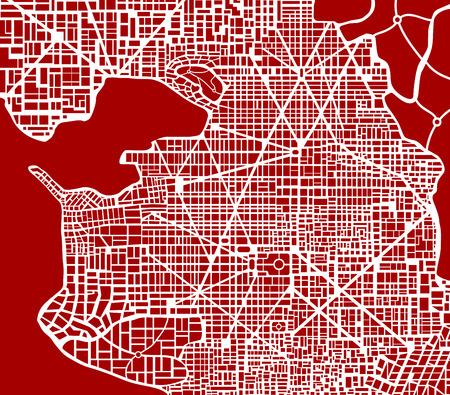 Zusammenfassung Schema Plan der Stadt. Nicht vorhandene Stadtplanschema für den Hintergrund und Template-Design und Kreativität. Standard-Bild - 50340107