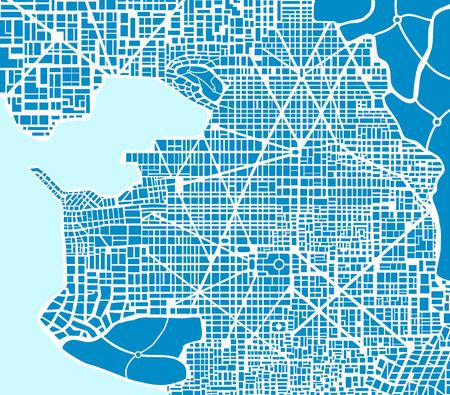 Abstract schema plan van de stad. Non-existent stadsplan regeling voor de achtergrond en de template design en creativiteit. Stock Illustratie