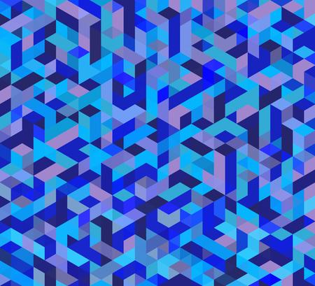 mesh: Blue triangular mesh mosaic background, creative design templates Illustration