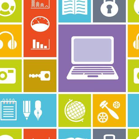 コンピューターとコンピューター技術のシームレス背景