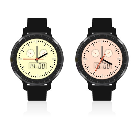 arrow circles: The design of modern and fashionable watch with a dial and arrows