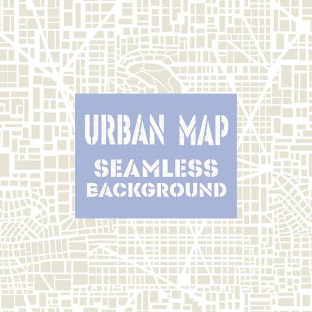 Mapa inconsútil de la ciudad. Modelo inconsútil de la ciudad. Editable vector mapa de las calles de una ciudad genérica de ficción. Resumen de fondo urbano.