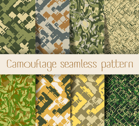 military background: Camouflage seamless pattern. Military Army camouflage pattern design Illustration