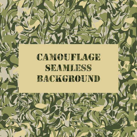 camoflage: Camouflage seamless pattern. Military Army camouflage pattern design Illustration