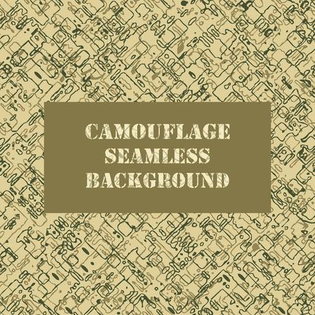 Camouflage seamless pattern. conception militaire de l'armée de motif de camouflage