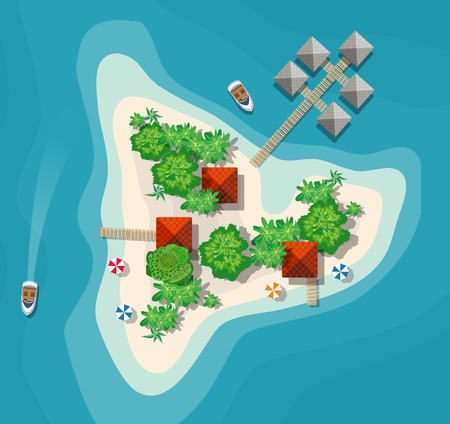 Island paradise view from above.