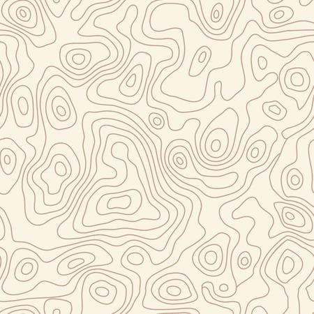 Nahtlose wiederholende topographische Konturkarte Hintergrund, Vektor-Illustration