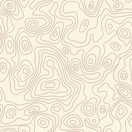 topographic: Seamless repeating topographic contour map background, vector illustration Illustration