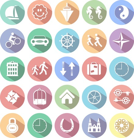 finance icons: Set of web icons for business, finance and communication Illustration