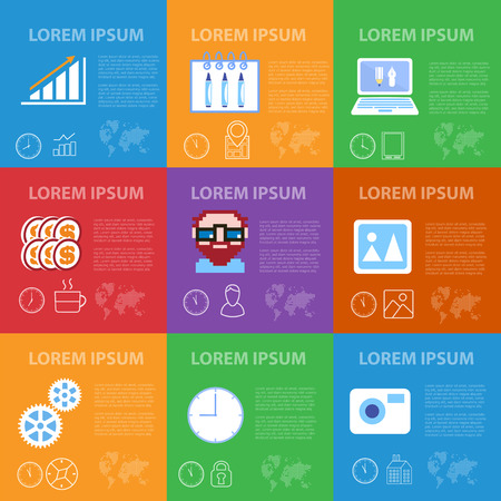 clients: Freelance infographics in flat style business design