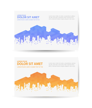 travel agencies: Business card with the urban landscape for real estate agencies or travel agencies Illustration