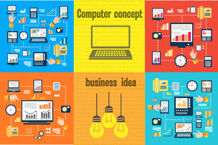 considering: Computer for digital computation. The concept of business ideas. Concept for office computer. Considering your budget. Computer calculations home
