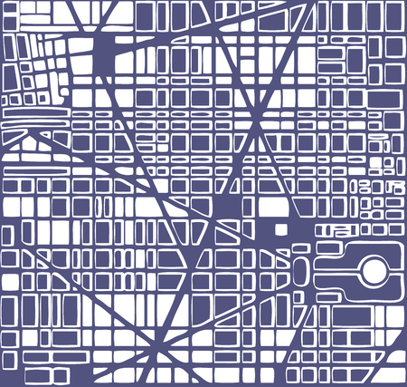town abstract: Map of the city.   Editable vector street map of a fictional generic town. Abstract urban background.