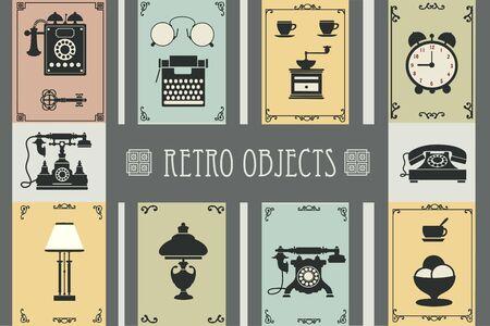 gospodarstwo domowe: Set of retro household items