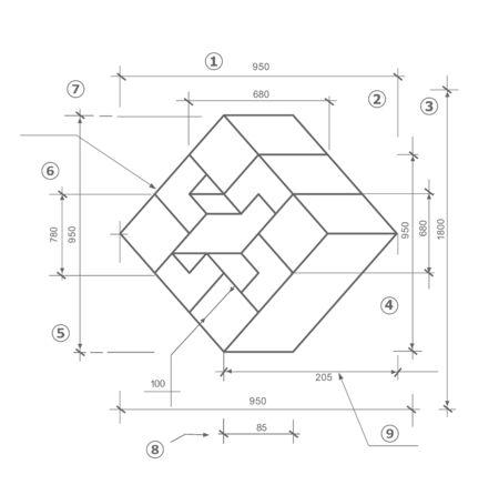 Dessiner une esquisse d'un dessin technique Vecteurs