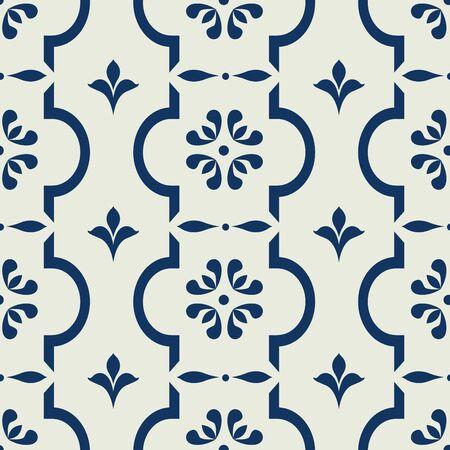 Seamless vintage background répétition pour le design textile. Papier peint, tissu, textures sont des objets individuels, modèle moderne, Banque vecteur Vecteurs