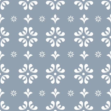 floral objects: Floral seamless repeating vintage background for textile design. Wallpaper, fabric, textures are individual objects, baroque pattern, stock vector Illustration