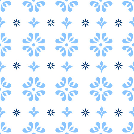 seamless patterns: Seamless repeating vintage background for textile design. Wallpaper, fabric, textures are individual objects, baroque pattern stock vector Illustration