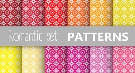 tiling: Pastel retro vector patterns tiling. Endless texture can be used for printing onto fabric and paper or scrap booking, surface textile, web page background. Flower abstract shapes