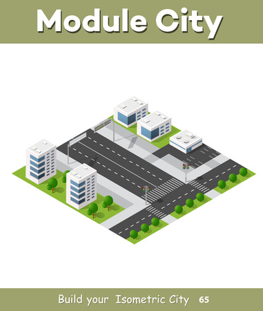 3 D 大都市ビジネス地区都市の高速道路