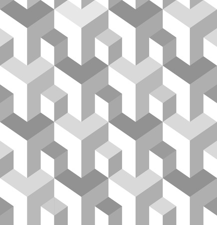 textiles: Vector seamless pattern. Modern stylish texture. Repeating geometric tiles with isometric elements