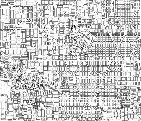 road construction: Landscape of the city top view of a repeating seamless pattern