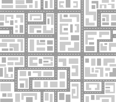 metropolis: Landscape of the city top view of a repeating seamless pattern