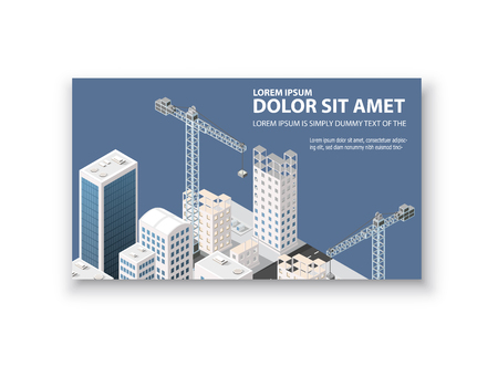 construction companies: Business card template. For real estate agencies, construction companies and businesses, tourist and urban companies