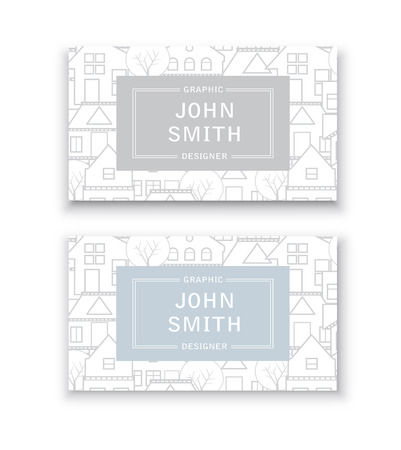 apartment: Business card template. For real estate agencies, construction companies and businesses, tourist and urban companies