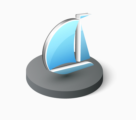 commerce: Ship tour boat yacht, logistics transportation and shipping icon