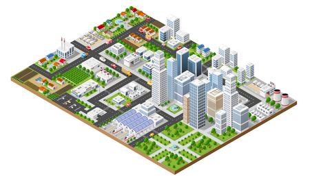 Widok z góry na miasto Ilustracje wektorowe