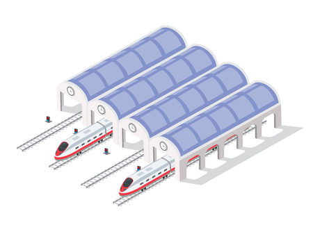 Fast modern high speed train