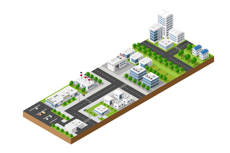 design elements: top view of the city