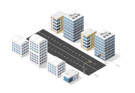 City boulevard isometric