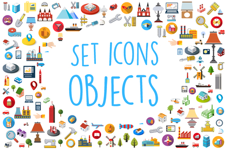 Set of web icons in different styles,  colors for design and concept business