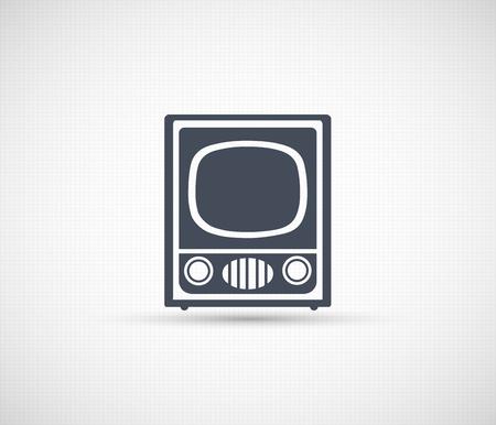 Vintage Retro Radio TV Silhouette Ilustrace