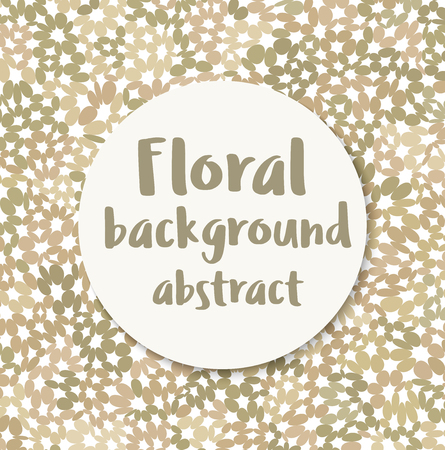 Floral abstract background for presentations, polygraphy and web creative design