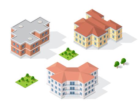 modern office: Drawing map engineering design in cartoon illustration