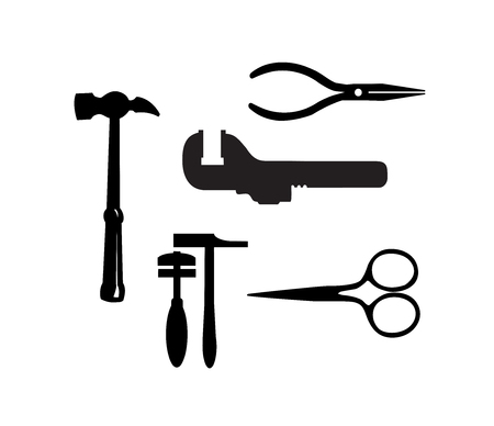 Silhouette illustration of building tool Illustration