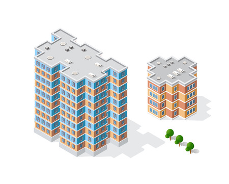 construction: Landscape of the city in cartoon illustration