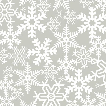 christmas backdrop: Silhouette pattern cut of tracery Christmas snowflakes Illustration