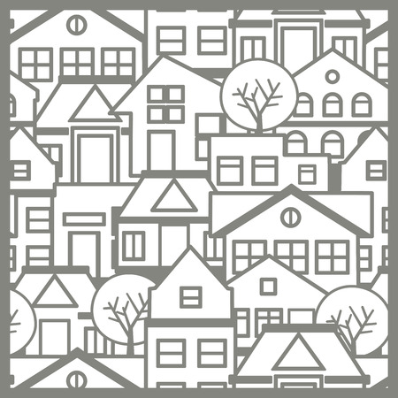 construction: City pattern silhouette Illustration
