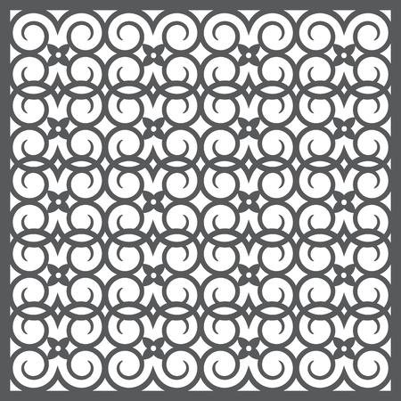 interlaced: Seamless pattern silhouette Illustration